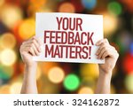 your feedback matters placard... | Shutterstock . vector #324162872