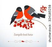 bullfinches on branch of... | Shutterstock .eps vector #324185258
