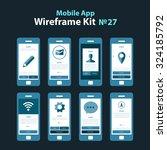 mobile wireframe app ui kit 27. ...