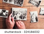 Wedding Photos Laid On A Table...