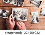 Wedding Photos Laid On A Table...