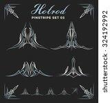 set of vintage pinstripe line... | Shutterstock .eps vector #324192992