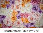 Stock photo close up handmade rose flower backdrop 324194972