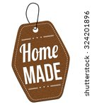 home made leather label or... | Shutterstock .eps vector #324201896