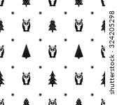winter pattern   varied xmas... | Shutterstock .eps vector #324205298