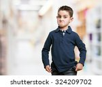 angry little kid | Shutterstock . vector #324209702