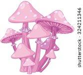 Illustration Of Magic Toadstools