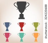 champions cup icon set. vector... | Shutterstock .eps vector #324220688