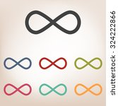 limitless symbol icon set | Shutterstock .eps vector #324222866