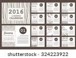 Monthly Calendar For Year 2016...