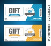 voucher  gift certificate ... | Shutterstock .eps vector #324226826