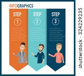 modern business infographics... | Shutterstock .eps vector #324229235