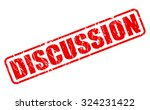 discussion red stamp text on... | Shutterstock .eps vector #324231422