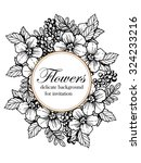 invitation with floral... | Shutterstock . vector #324233216