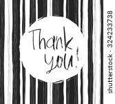 thank you card. abstract black... | Shutterstock .eps vector #324233738