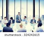 business people meeting... | Shutterstock . vector #324242615