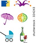 graphic icons | Shutterstock .eps vector #324243