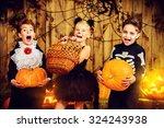 Group Of Joyful Children In...