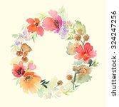 wreath wedding watercolor.... | Shutterstock . vector #324247256