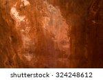 relief plates orange copper | Shutterstock . vector #324248612