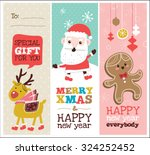 set of christmas banner design | Shutterstock .eps vector #324252452