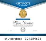certificate template  vector | Shutterstock .eps vector #324254636