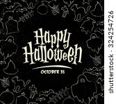 hand drawn halloween vector... | Shutterstock .eps vector #324254726