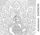 Elegant Peacock Coloring Page...
