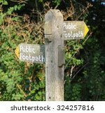 """public footpath"" signpost in... 