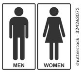 man and woman vector icons or... | Shutterstock .eps vector #324263072