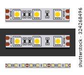 vector led light strip seamless   Shutterstock .eps vector #324268496