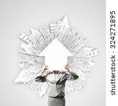 unrecognizable businesswoman...   Shutterstock . vector #324271895