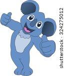 cartoon koala   Shutterstock .eps vector #324275012