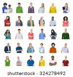 diverse people global... | Shutterstock . vector #324278492