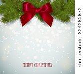 merry christmas festive... | Shutterstock .eps vector #324285872
