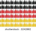 bottles cut out against german... | Shutterstock . vector #3242882