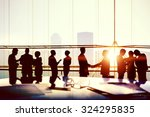 business people meeting... | Shutterstock . vector #324295835