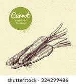 carrot vector illustration | Shutterstock .eps vector #324299486