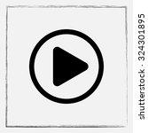 play button sign icon  vector... | Shutterstock .eps vector #324301895