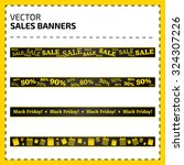 set of vector banners for sale... | Shutterstock .eps vector #324307226