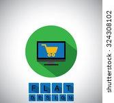 flat design icon of online...