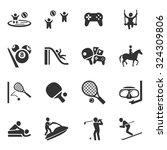 activity sport icon vector set...   Shutterstock .eps vector #324309806