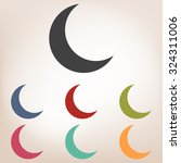 Moon Vector Icon Set