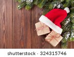 Christmas Tree Branch And Sant...