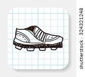 sport shoe doodle   Shutterstock .eps vector #324321248