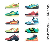 Sports Shoes Vector Set....