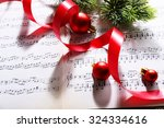 Christmas Decor On Music Notes...