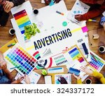 advertising advertisement... | Shutterstock . vector #324337172