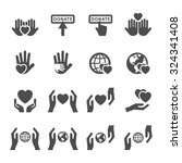 charity and donation icon set 4 ...   Shutterstock .eps vector #324341408