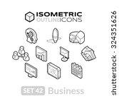 isometric outline icons  3d... | Shutterstock .eps vector #324351626